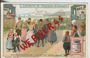 Liebig`s - Hochzeitsbräuche, Auf der Insel Marken (Holland) --Sammelbild   (1)