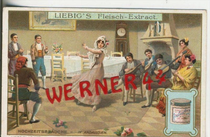 Liebig`s - Hochzeitsbräuche, In Andalusien -- Sammelbild   (3)