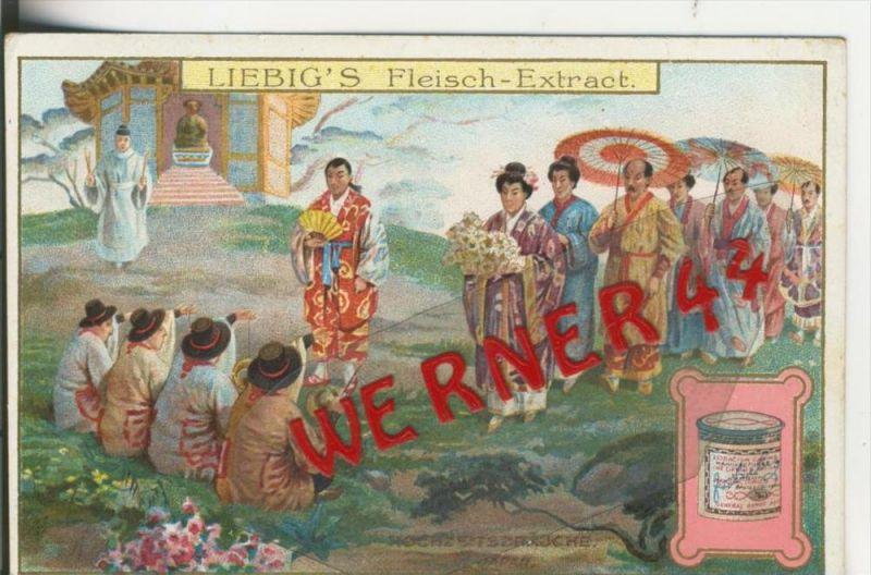 Liebig`s - Hochzeitsbräuche, In Japan -- Sammelbild   (4)