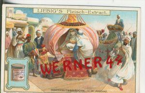 Liebig`s - Hochzeitsbräuche, In Marokko -- Sammelbild   (5)