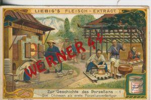 Liebig`s - Geschichte des Porzellans -- Die Chinesen als erste Porzellananfertiger -- Sammelbild   (7)