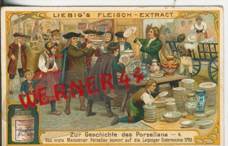 Liebig`s - Geschichte des Porzellans -- Das erste Meissener Porzellan v. 1710 -- Sammelbild   (10)