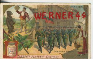 Liebig`s - Bulgarien, Bärenführer, Soldaten in Drenovo -- Sammelbild   (18)