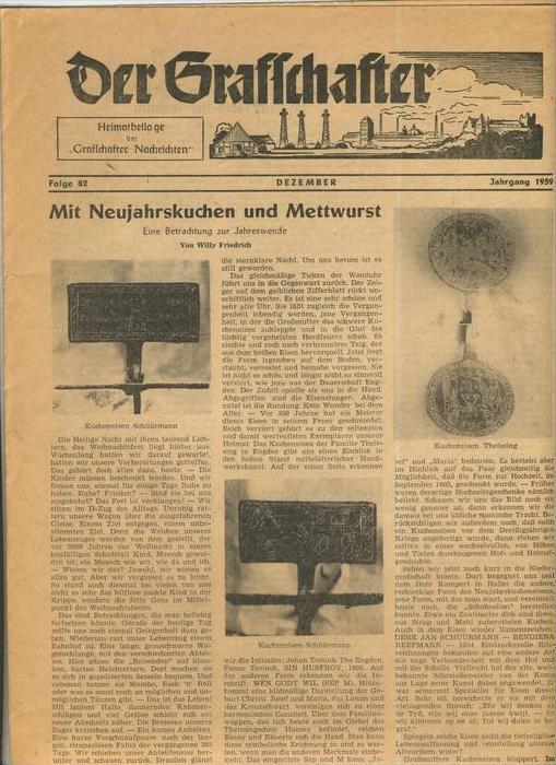 Der Grafschafter  Folge 82, Dezember 1959  --  siehe Foto !!   (0)