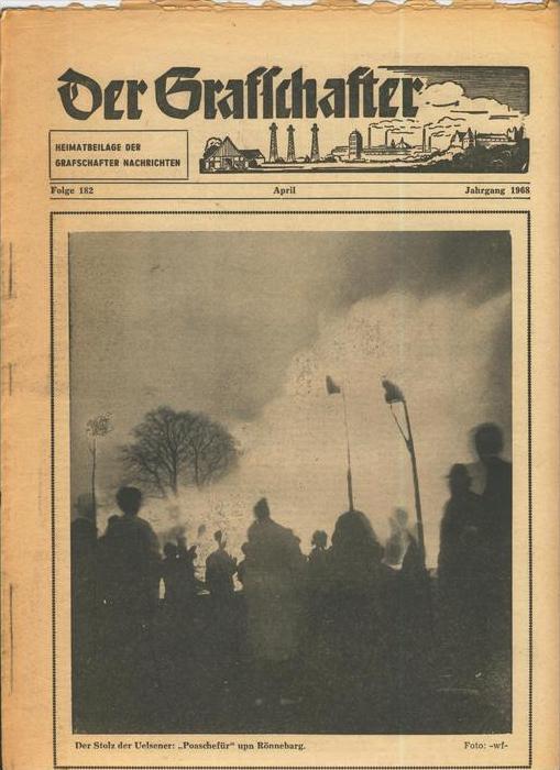 Der Grafschafter , Folge 182, April 1968  --  siehe Foto !!   (0) 0