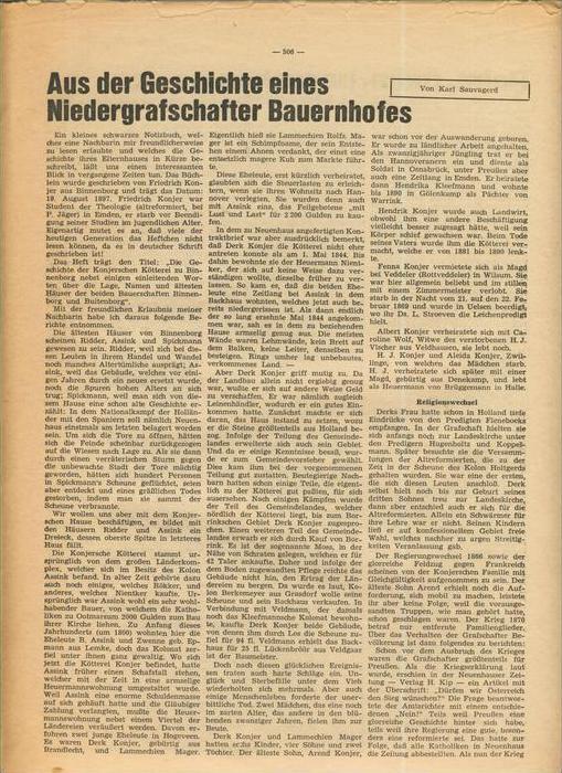 Der Grafschafter , Folge 182, April 1968  --  siehe Foto !!   (0) 1
