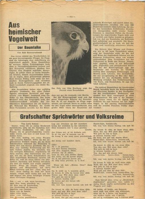 Der Grafschafter , Folge 182, April 1968  --  siehe Foto !!   (0) 2