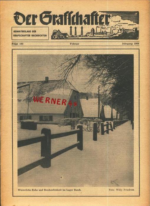Der Grafschafter , Folge 192, Februar 1969  --  siehe Foto !!   (0) 0