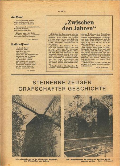 Der Grafschafter , Folge 212, Dezember 1970  --  siehe Foto !!   (0) 7