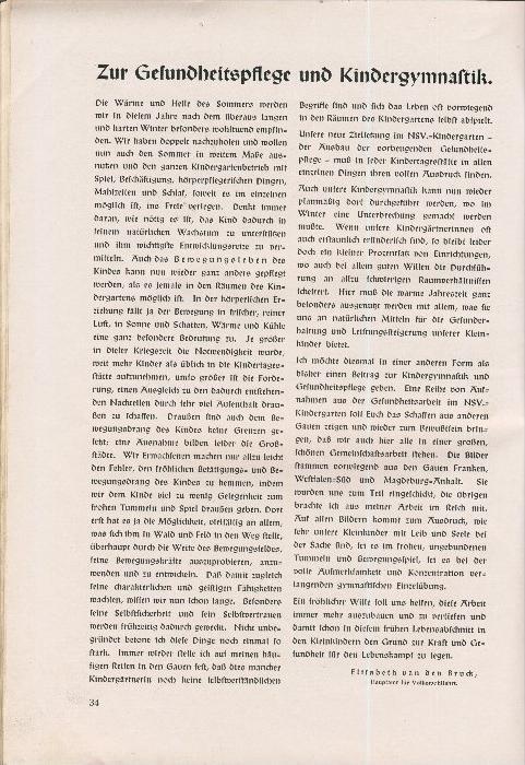 Rundbrief für Kindergärtnerinnen v. 1940   Heft 2  - siehe Foto !!  (ohne) 7
