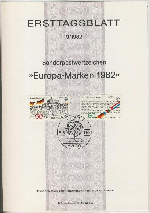 BRD - ETB (Ersttagsblatt) 9/1982 0