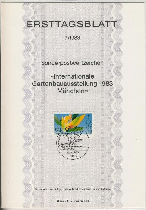 BRD - ETB (Ersttagsblatt) 7/1983 0