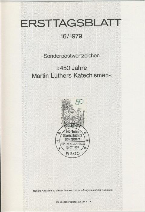 BRD - ETB (Ersttagsblatt) 16/1979 0