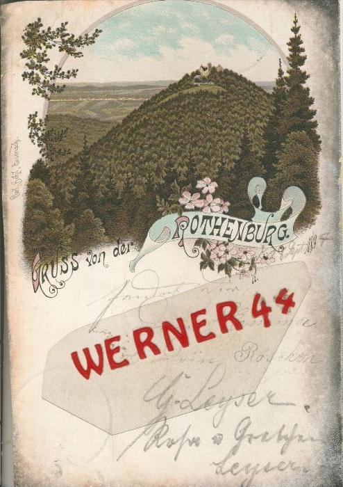 Gruss v. d. Rothenburg v. 1897  --  siehe Foto !!  (29401) 0