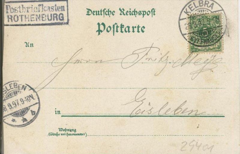 Gruss v. d. Rothenburg v. 1897  --  siehe Foto !!  (29401) 1