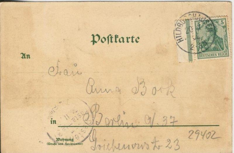 Gruss aus Hildburghausen v. 1902 Marktplatz & Technikum  --  siehe Foto !!  (29402) 1