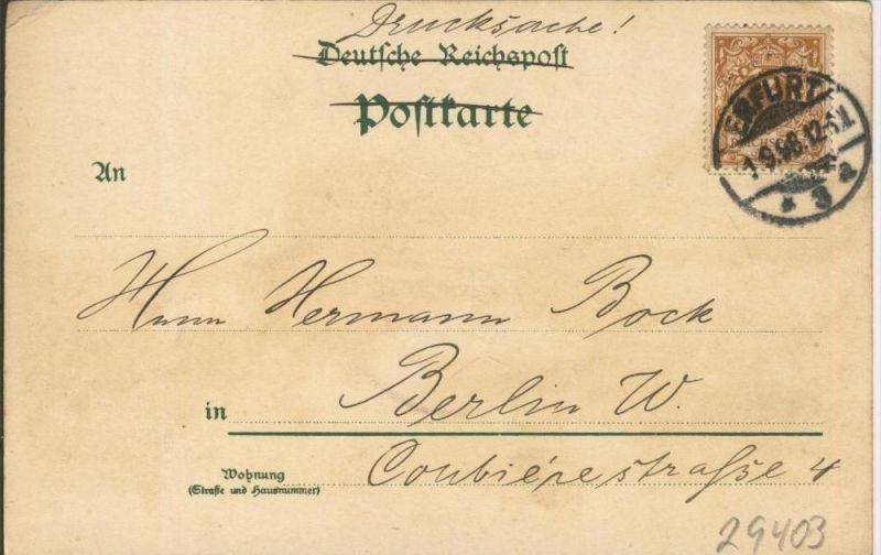 Gruss aus dem Saalethal v. 1898  --  siehe Foto !!  (29403) 1