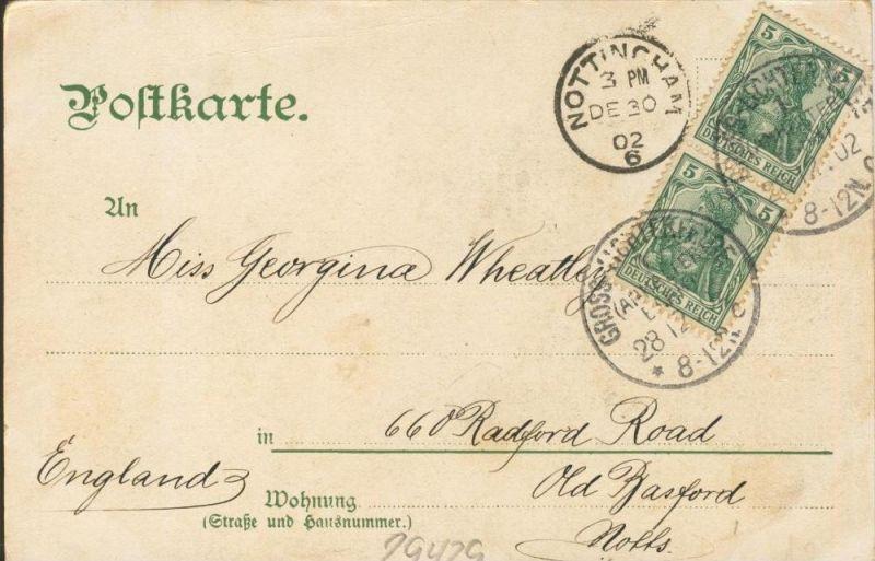 Berlin v. 1902  Dom & Kaiser Wilhelm Brücke und Strasse mit Kutsche  ()  --  siehe Foto !!  (29429) 1