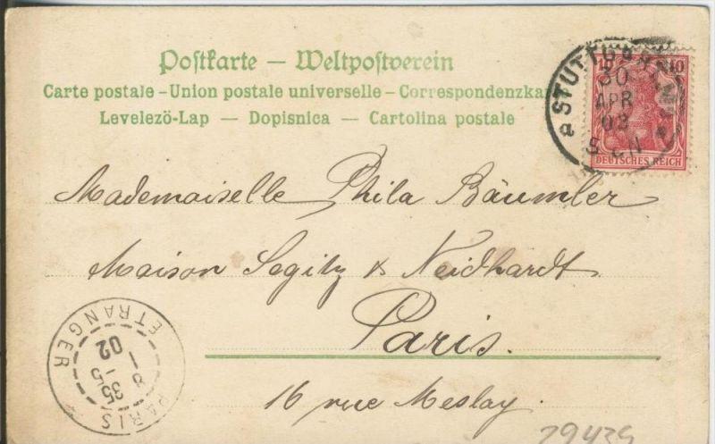 Stuttgart v. 1902   ()  --  siehe Foto !!  (29439) 1