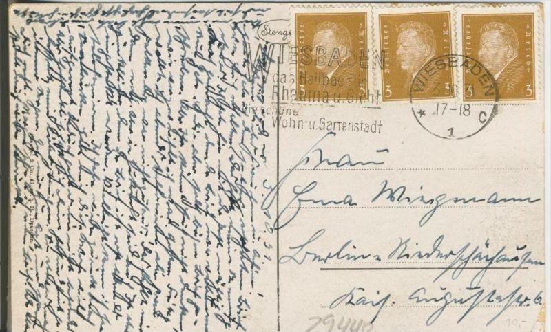 Wiesbaden v. 1931  Teil-Stadt-Ansicht mit Kochbrunnen   ()  --  siehe Foto !!  (29440) 1