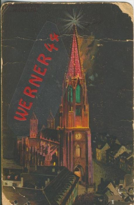 Freiburg i. Br. v. 1912  Münster und Teil-Stadt Ansicht   ()  --  siehe Foto !!  (29442) 0