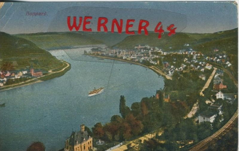 Boppard v. 1915  Total-Ansicht   ()  --  siehe Foto !!  (29447) 0