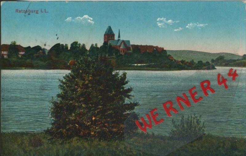 Ratzeburg v. 1915  Teil-Stadt-Ansicht   ()  --  siehe Foto !!  (29454) 0