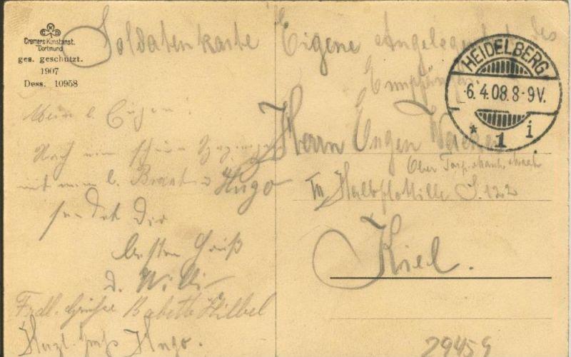 Heidelberg v. 1908 Aufgang zum Schloß Mit Erkerhäuschen  ()  --  siehe Foto !!  (29459) 1