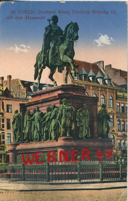 Coeln v. 1915  Denkmal König Friedrich Wilhelm III  ()  --  siehe Foto !!  (29466) 0