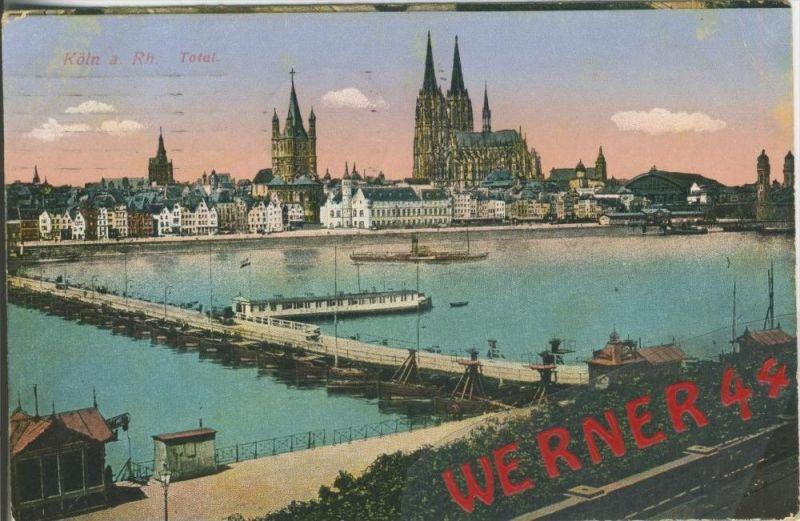 Köln v. 1916  Teil-Stadt-Ansicht  ()  --  siehe Foto !!  (29467) 0
