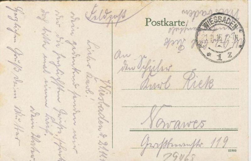 Köln v. 1916  Hohenzollernbrücke  ()  --  siehe Foto !!  (29468) 1