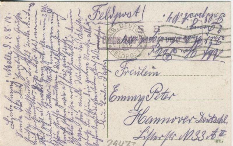 Köln v. 1917  Teil-Stadt mit Schiffe  ()  --  siehe Foto !!  (29473) 1