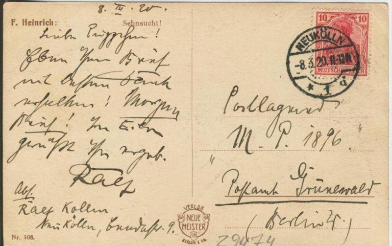 Sehnsucht v. 1920  ()  --  siehe Foto !!  (29474) 1