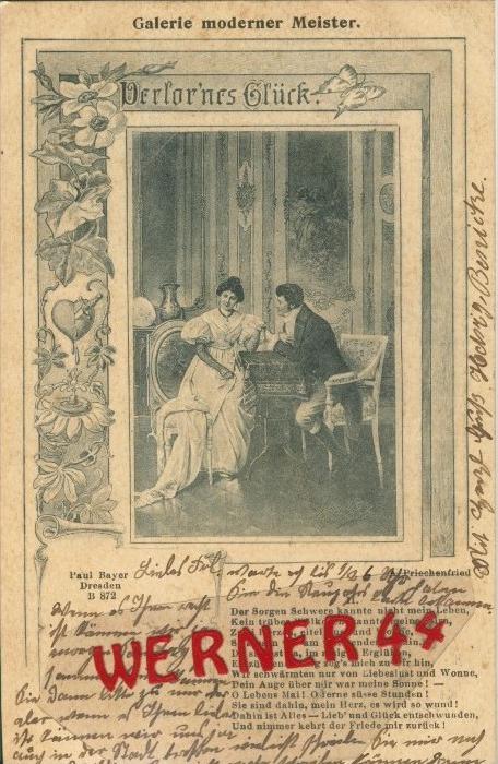 Verlorenes Glück v. 1902  ()  --  siehe Foto !!  (29475) 0