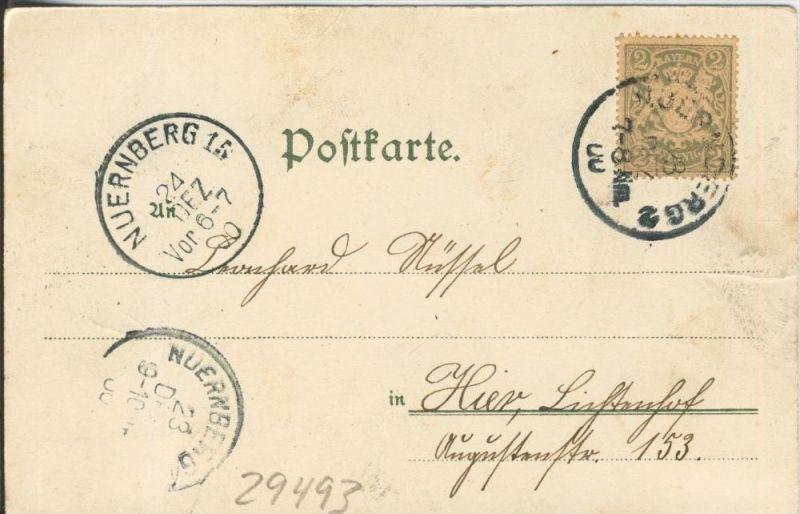 Ein Junge und Mädchen auf einer Wiese v. 1906   ()  --  siehe Foto !!  (29493) 1
