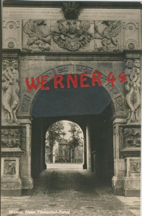 wismar v. 1959  Fürstenhof Portal  --  siehe Foto !!  (29201) 0