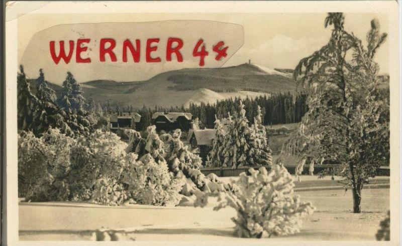 Oberhof v. 1955  Teil-Dorf-Ansicht im Winter  --  siehe Foto !!  (29206) 0