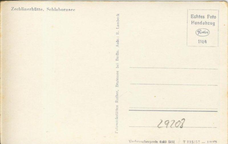 Zechlinerhütte v. 1957  Schlahornsee  --  siehe Foto !!  (29208) 1