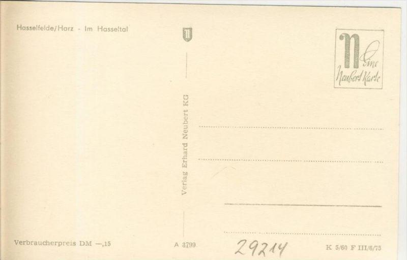 Hasselfelde v. 1975  Im Hasseltal  --  siehe Foto !!  (29214) 1