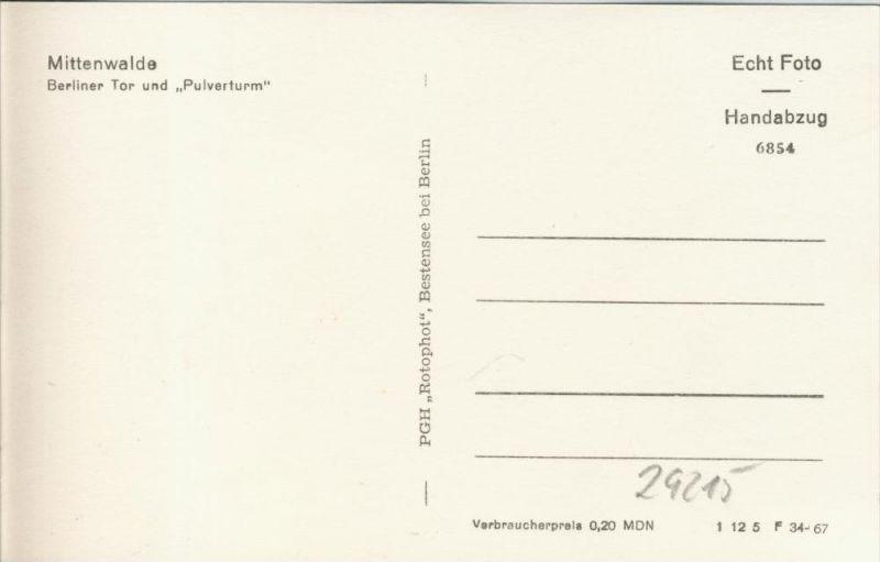Mittenwalde v. 1967  Berliner Tor und