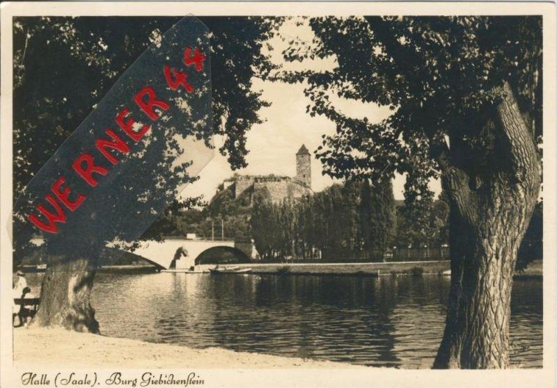 Halle / Saale v. 1938  Burg Giebichenstein  ()  --  siehe Foto !!  (29511)