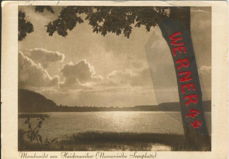Neuwied v. 1932  Mondnacht am Haidenweiher  ()  --  siehe Foto !!  (29514)