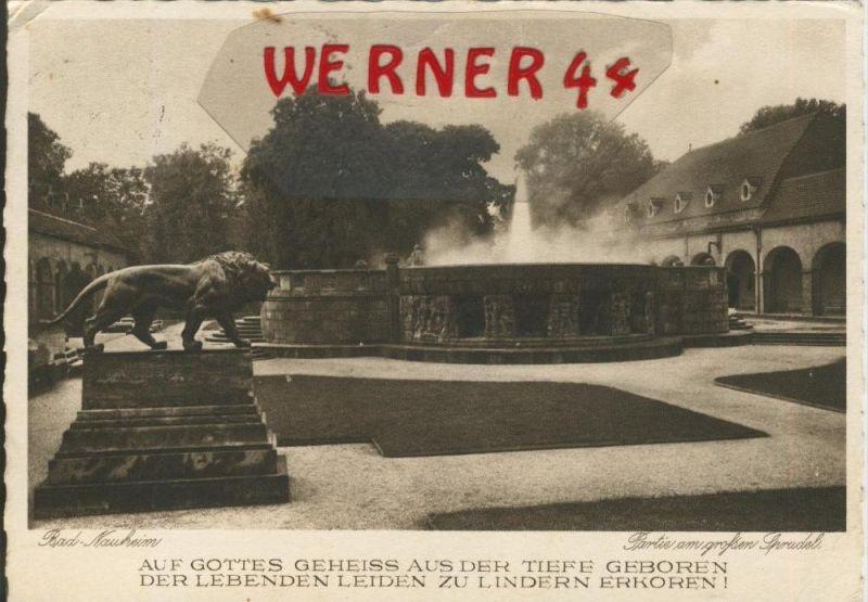 Bad Nauheim v. 1931  Partie am großen Sprudel  ()  --  siehe Foto !!  (29515)