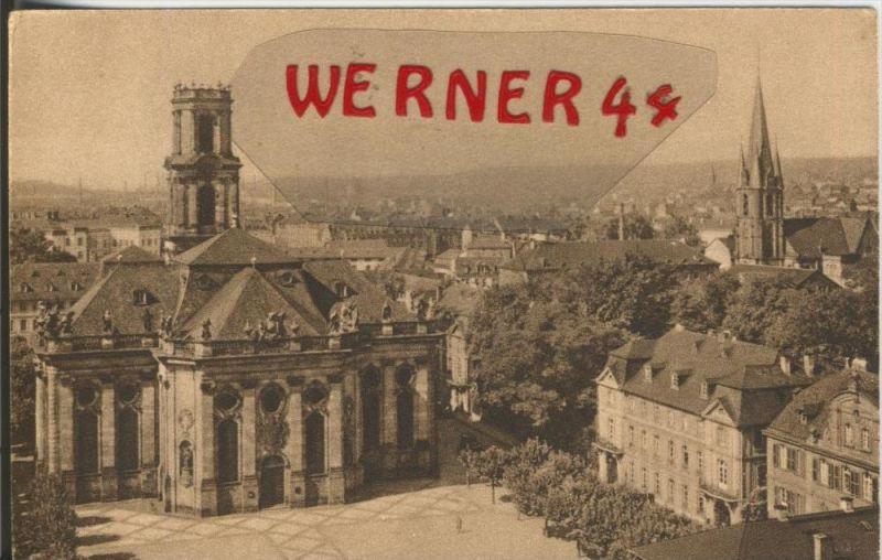 Saarbrücken v. 1918  Teil-Stadt mit Ludwigs - und St. Jakobskirche  ()  --  siehe Foto !!  (29590)
