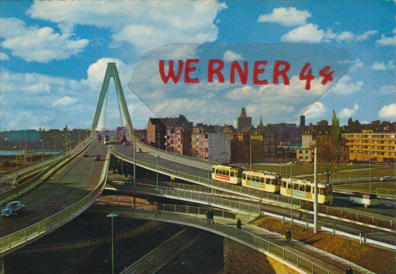 Köln v. 1966  Severinsbrücke mit Teil-Stadt-Ansicht  --  siehe Foto !!  (29363)