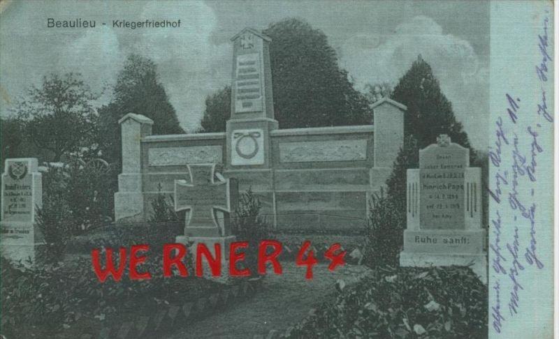 Beaulieu v. 1915  Kriegerfriedhof -- siehe Foto !!  (29609)