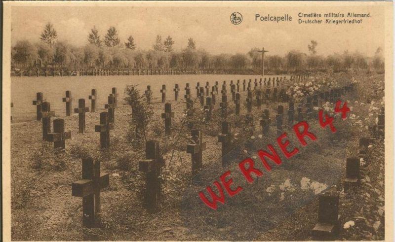 Poelcapelle v. 1916 Deutscher Kriegsfriedhof -- siehe Foto !!  (29627)