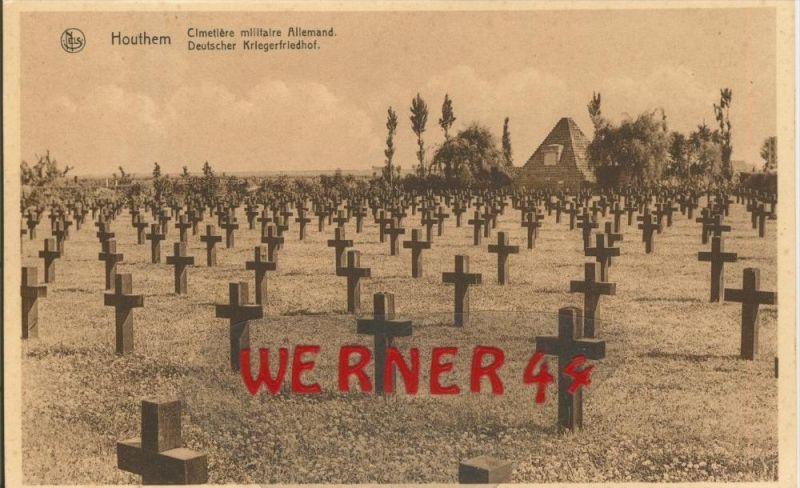 Houthem v. 1916 Deutscher Kriegsfriedhof -- siehe Foto !!  (29628)