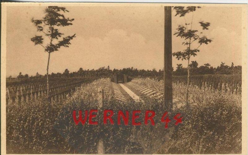Zillebeke (Wijk Hooge) v. 1916 Deutscher Kriegsfriedhof -- siehe Foto !!  (29629)