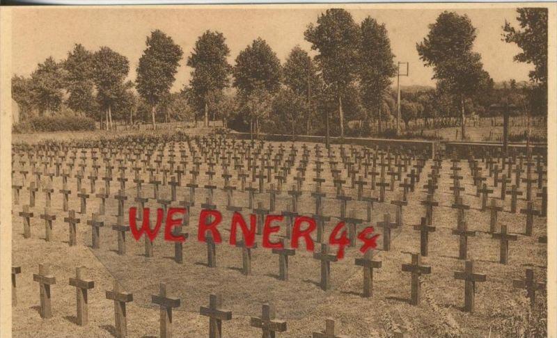 Westroosebeke v. 1916 Deutscher Kriegsfriedhof -- siehe Foto !!  (29630)